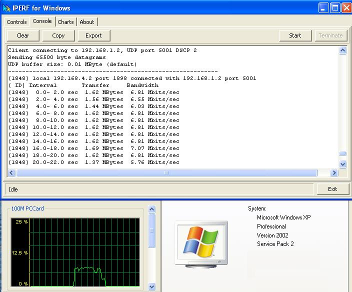 Iperf windows gui